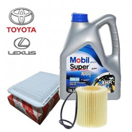 Mobil XHP 20W-50 4-Litres Motor Oil & Toyota Metal Oil Filter + Engine Air Filter